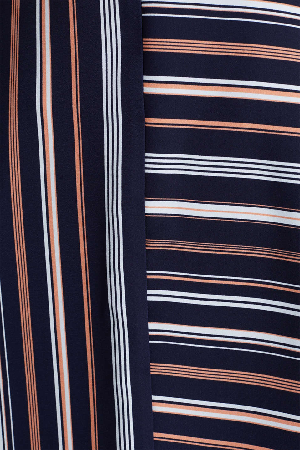 Crêpe skirt with a striped print, NAVY 2, detail image number 4