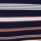 Crêpe skirt with a striped print, NAVY 2, swatch