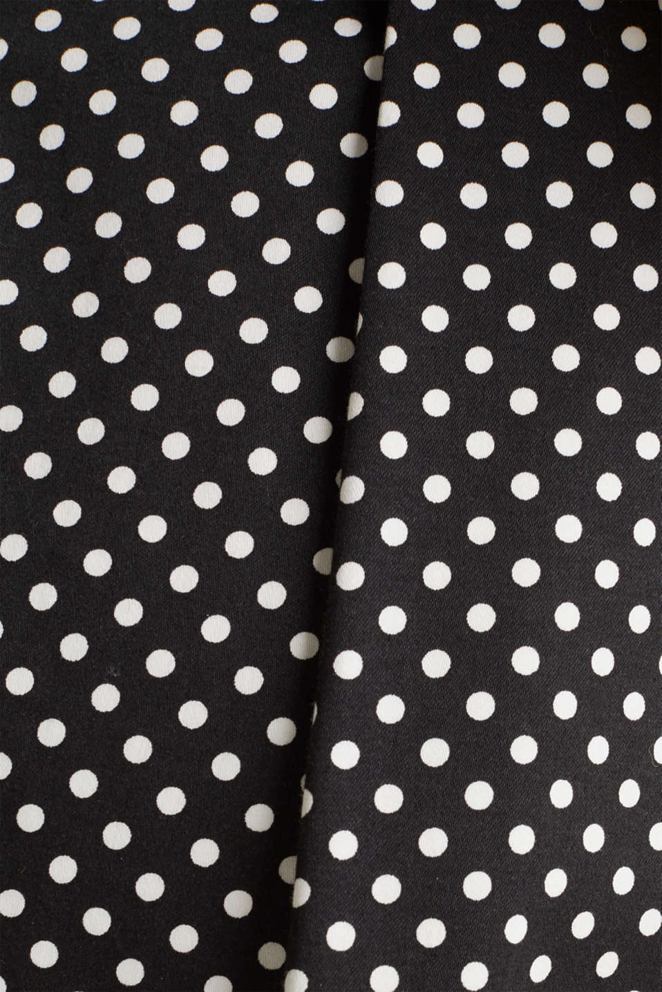 Satined polka dot skirt with stretch, BLACK 3, detail image number 4