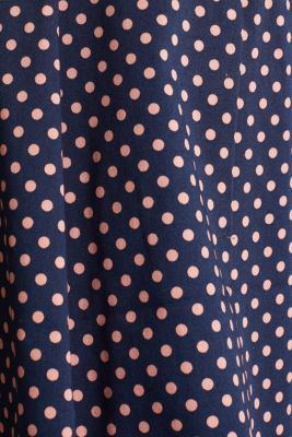 Satined polka dot skirt with stretch, NAVY 4, detail