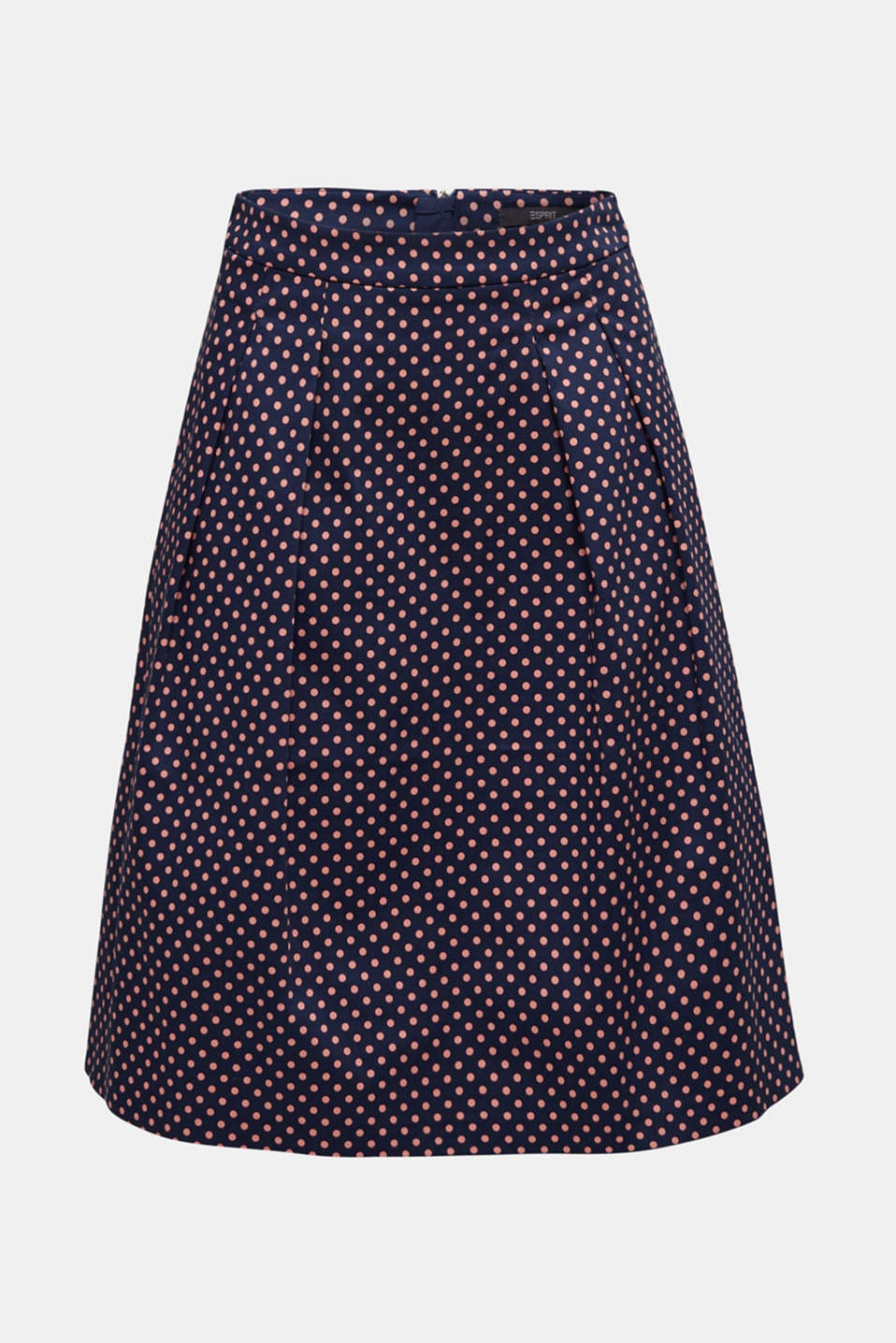 Satined polka dot skirt with stretch, NAVY 4, detail image number 7
