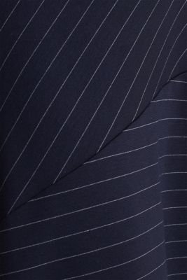 Stretch jersey skirt with pinstripes, NAVY, detail