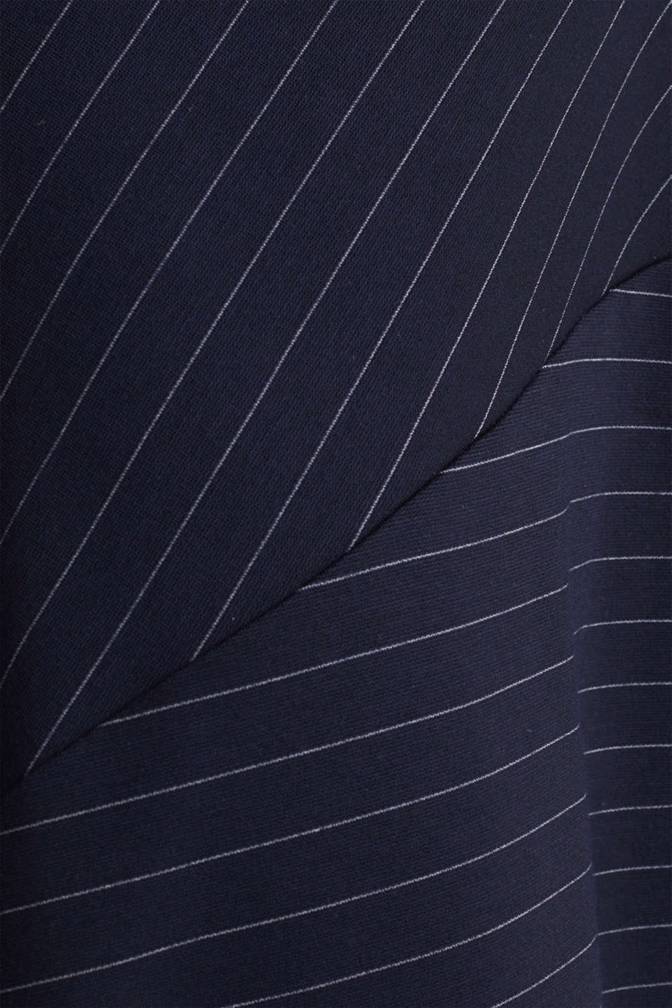 Stretch jersey skirt with pinstripes, NAVY, detail image number 4
