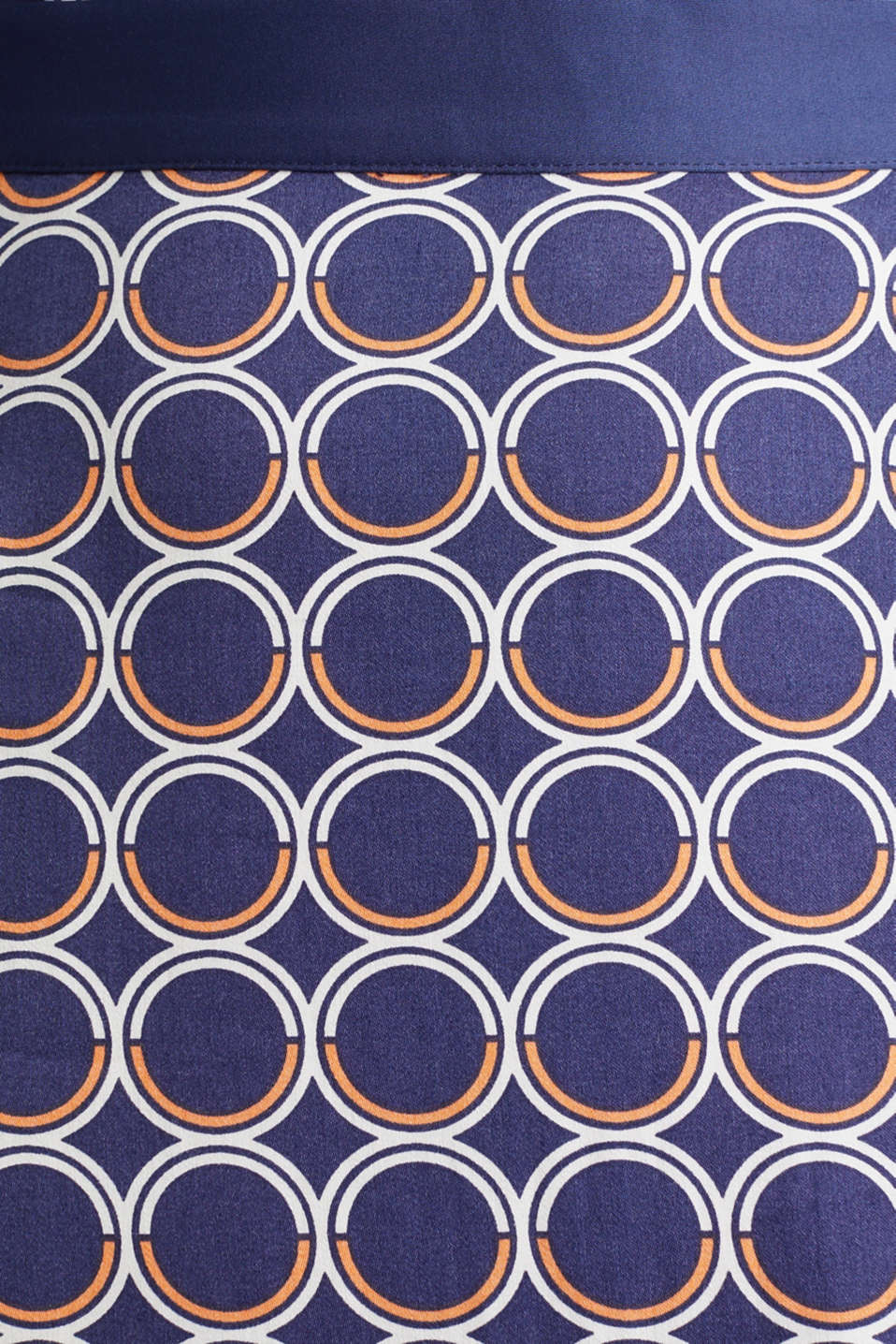 Flared midi skirt with a geometric print, NAVY 3, detail image number 4