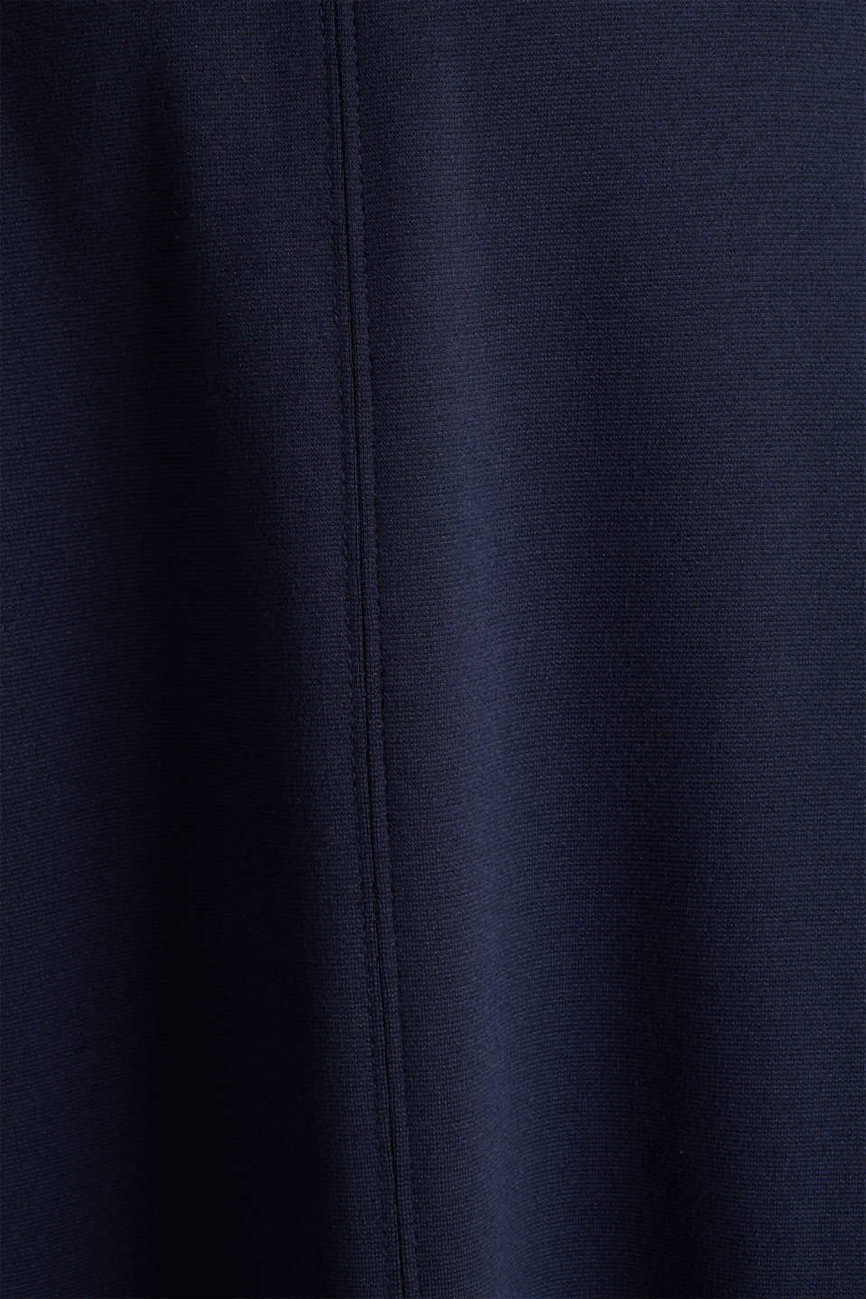 Stretch jersey dress with a belt, NAVY, detail image number 4