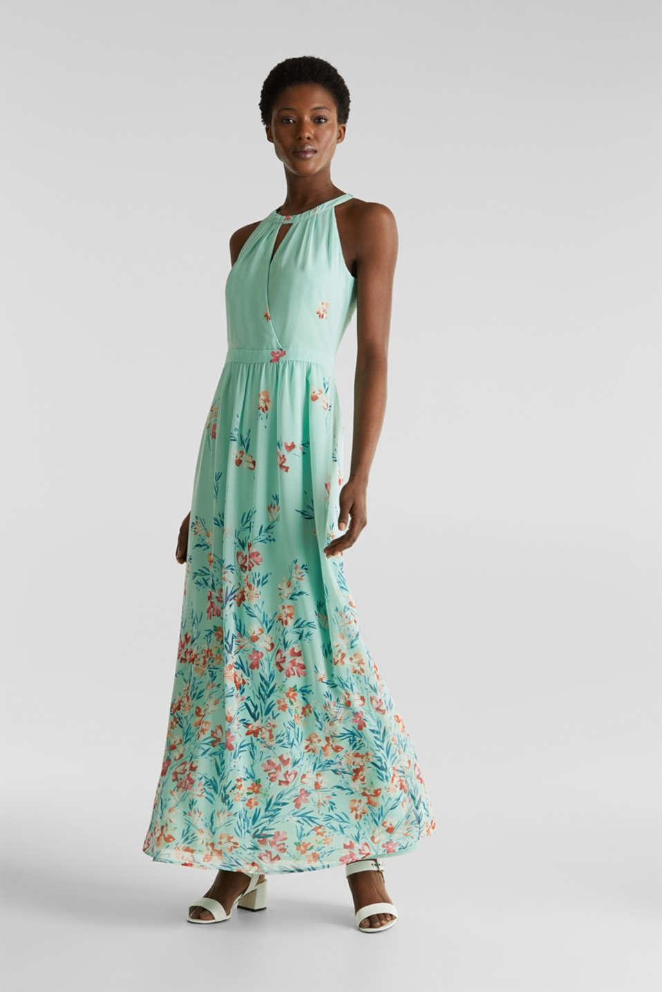 Chiffon maxi dress, PASTEL GREEN 4, detail image number 0