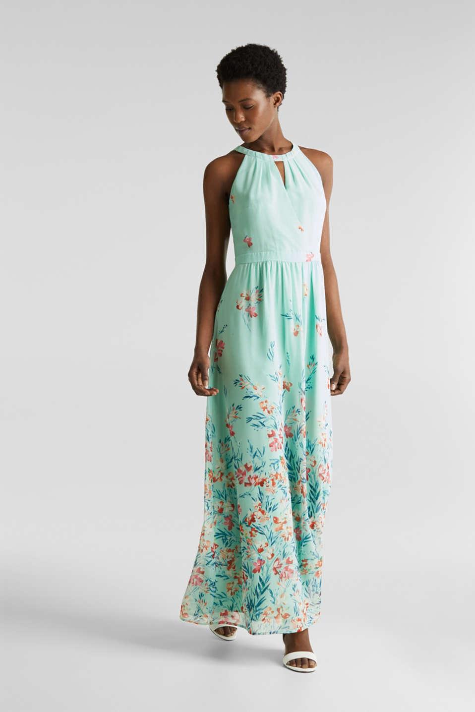 Chiffon maxi dress, PASTEL GREEN 4, detail image number 1