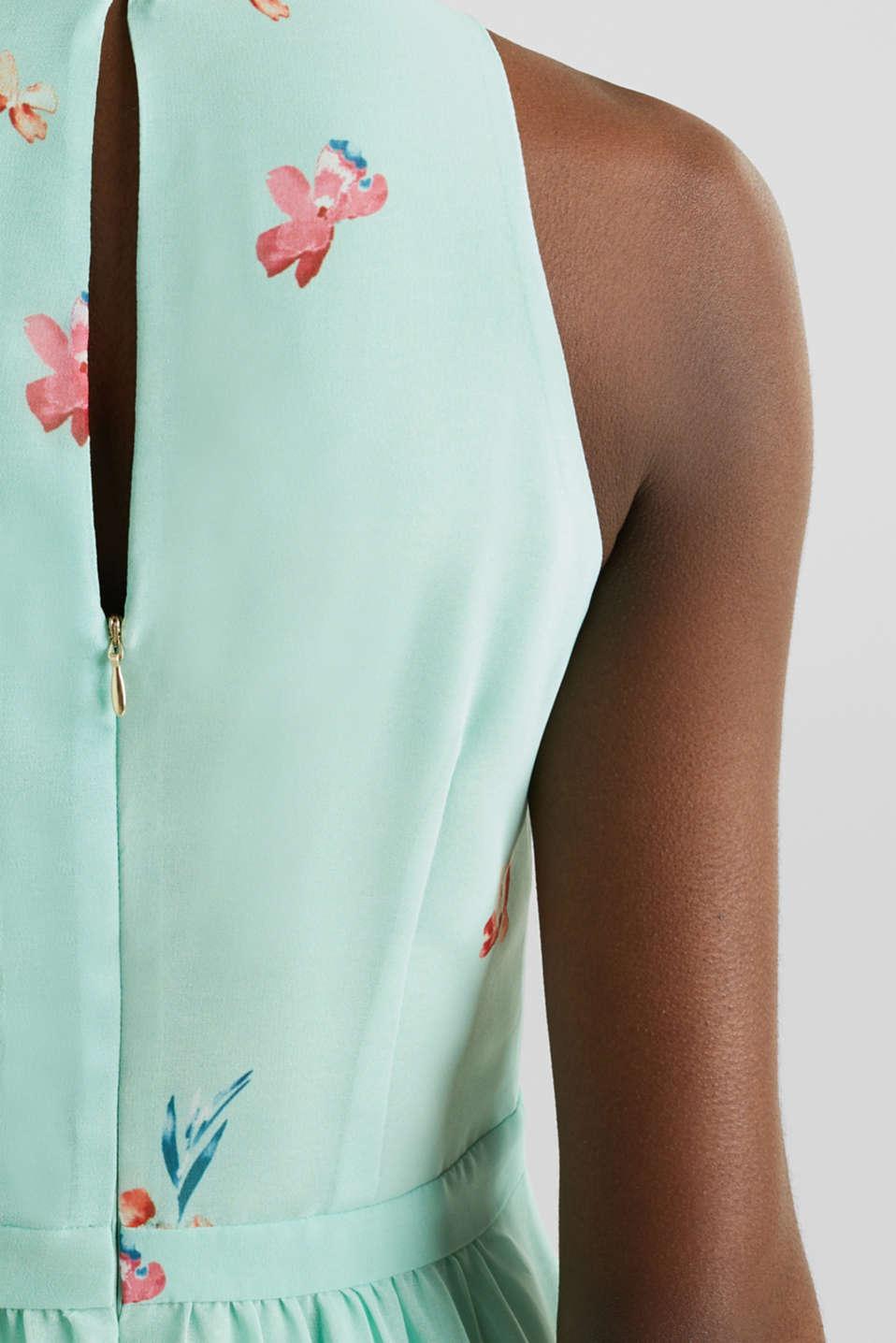 Chiffon maxi dress, PASTEL GREEN 4, detail image number 3