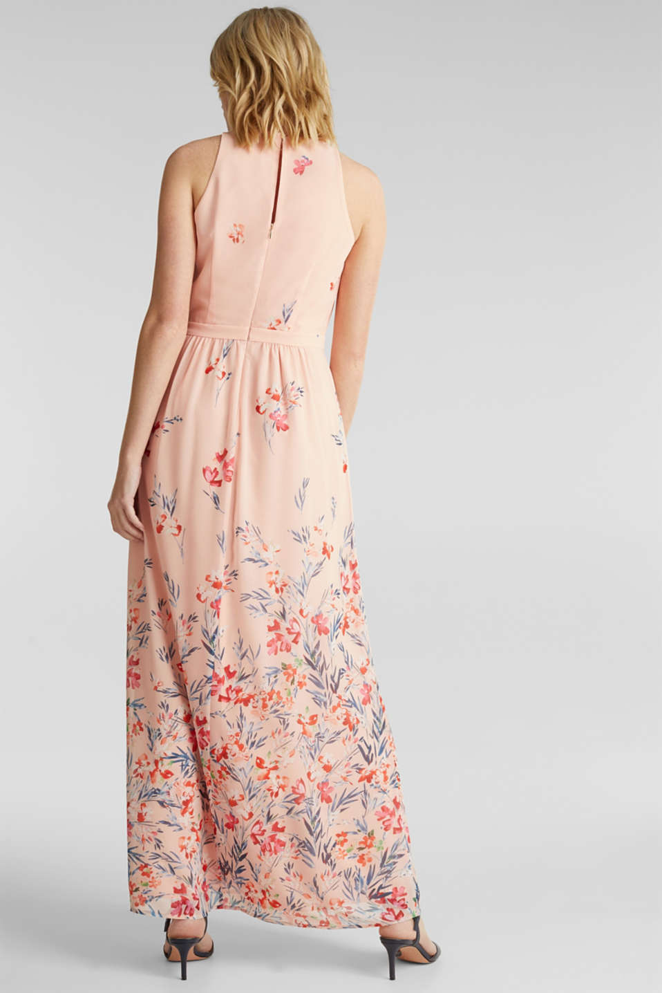 Chiffon maxi dress, PASTEL PINK 4, detail image number 1
