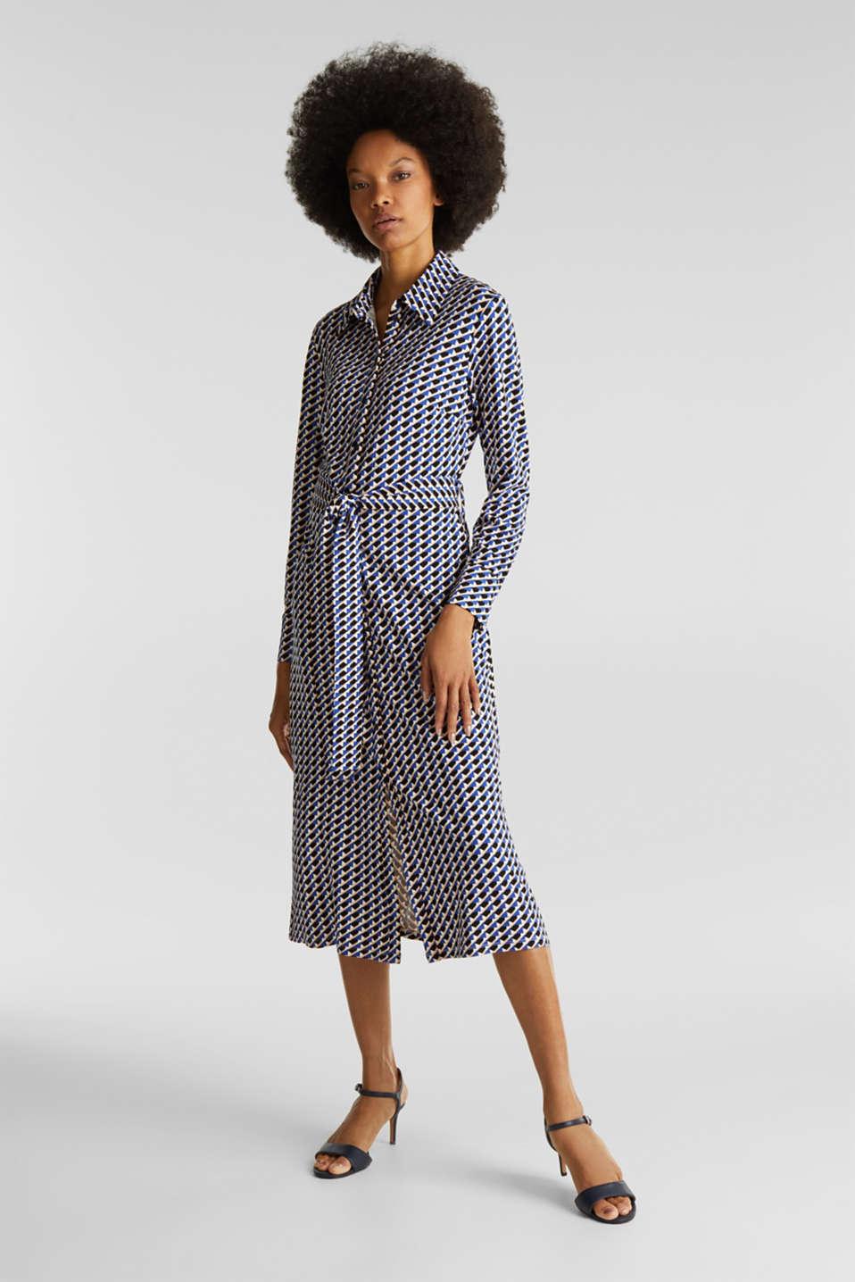 Esprit Med uld: frakke med bindebælte i Esprits Online Shop
