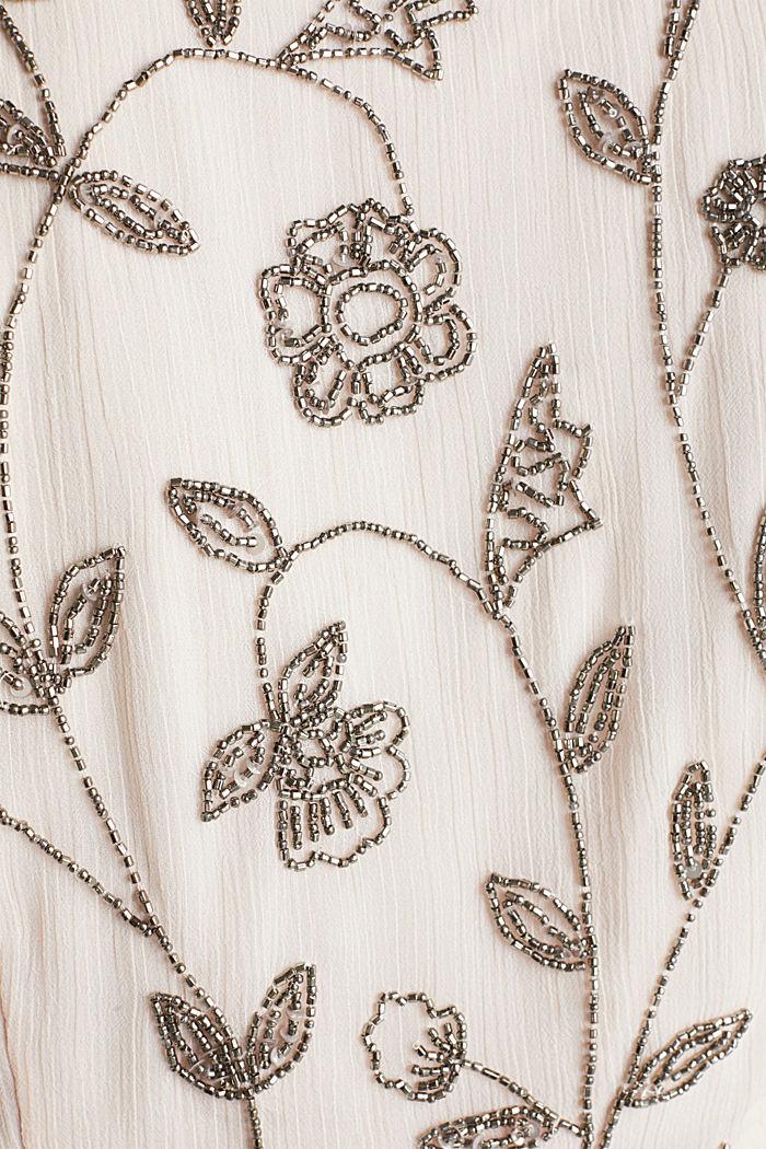 Kleid aus Crinkle-Chiffon mit Stickerei, PASTEL PINK, detail image number 4