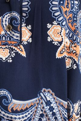 Woven dress with a print and a slip, NAVY 4, detail