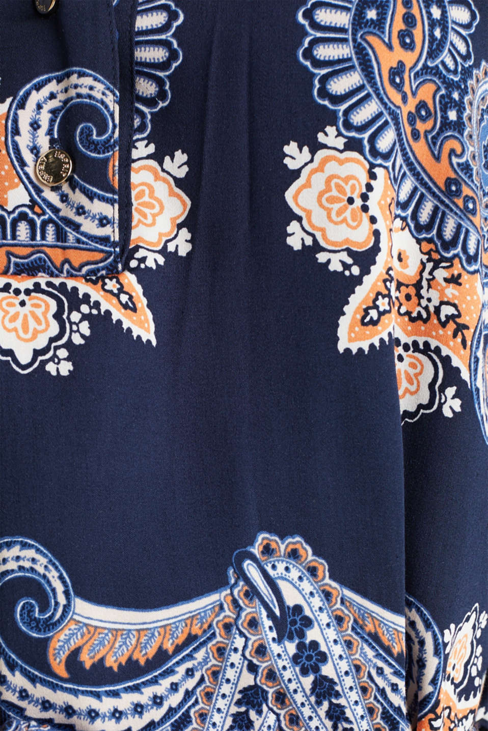 Woven dress with a print and a slip, NAVY 4, detail image number 4