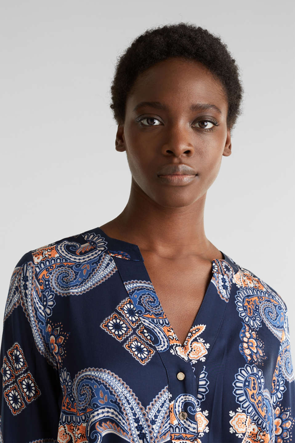 Woven dress with a print and a slip, NAVY 4, detail image number 5
