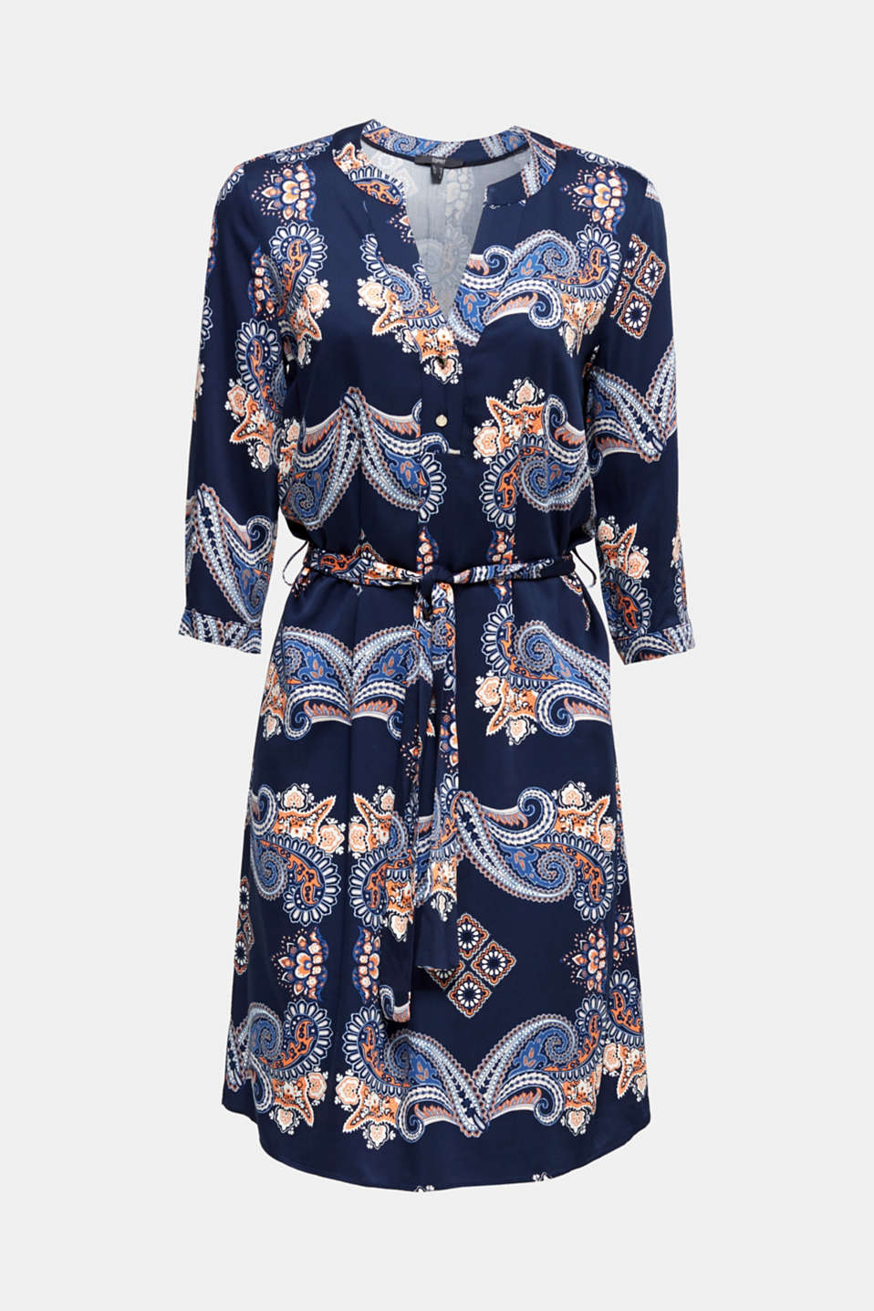 Woven dress with a print and a slip, NAVY 4, detail image number 6