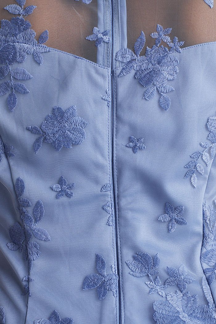 Tüll-Kleid mit Stickerei, BLUE LAVENDER, detail image number 3
