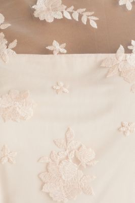 Embroidered tulle dress, PASTEL PINK, detail