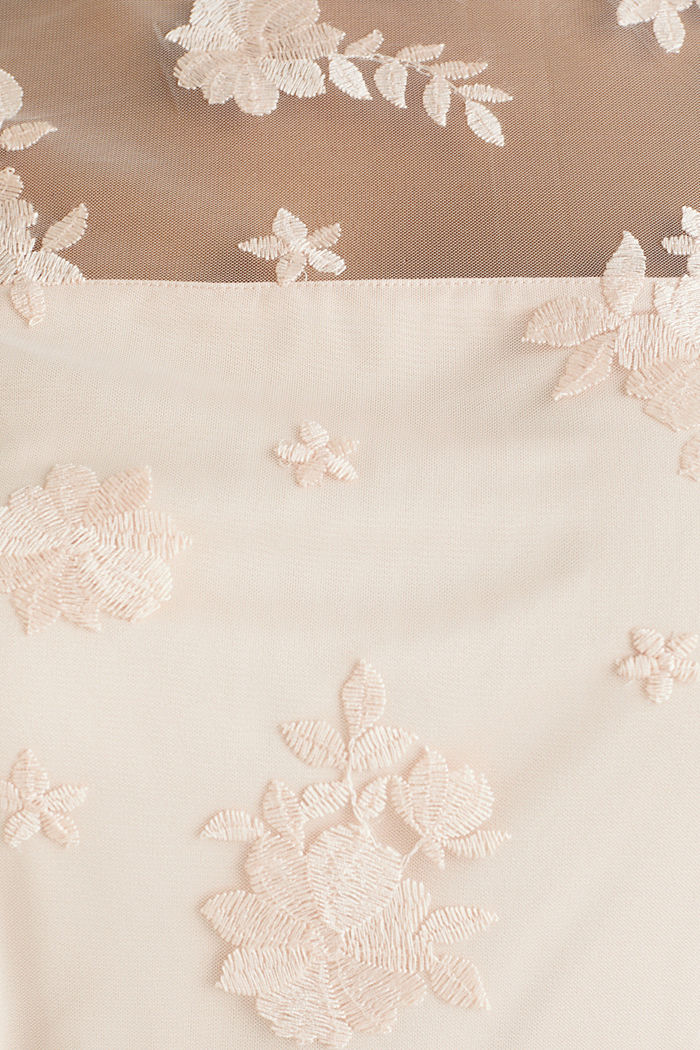 Embroidered tulle dress, PASTEL PINK, detail image number 4