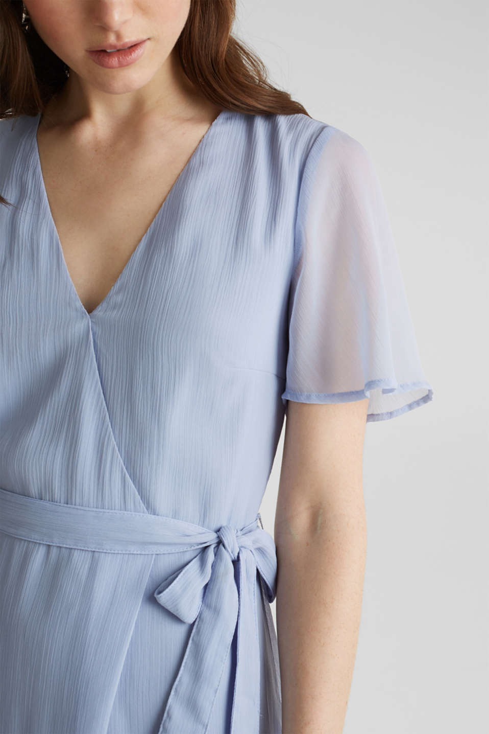 Maxi dress made of delicate crinkle chiffon, BLUE LAVENDER, detail image number 3