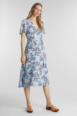 Midi dress with wrap effect, PASTEL BLUE 4, detail