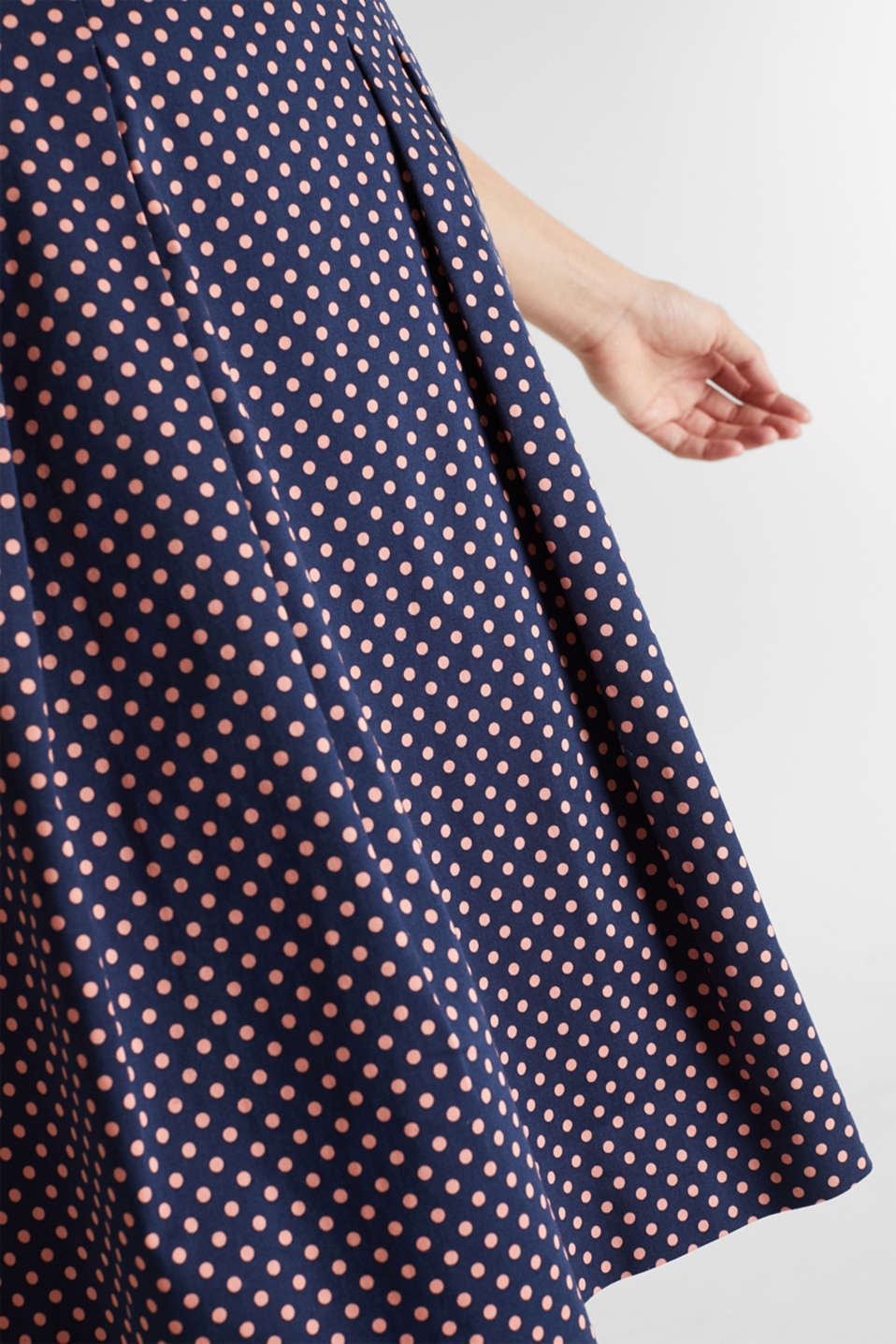 Fabric mix stretch dress, NAVY 4, detail image number 3