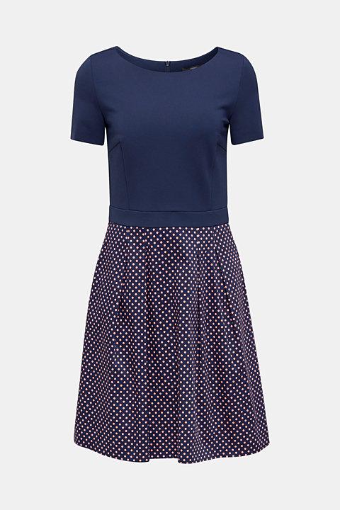 Fabric mix stretch dress