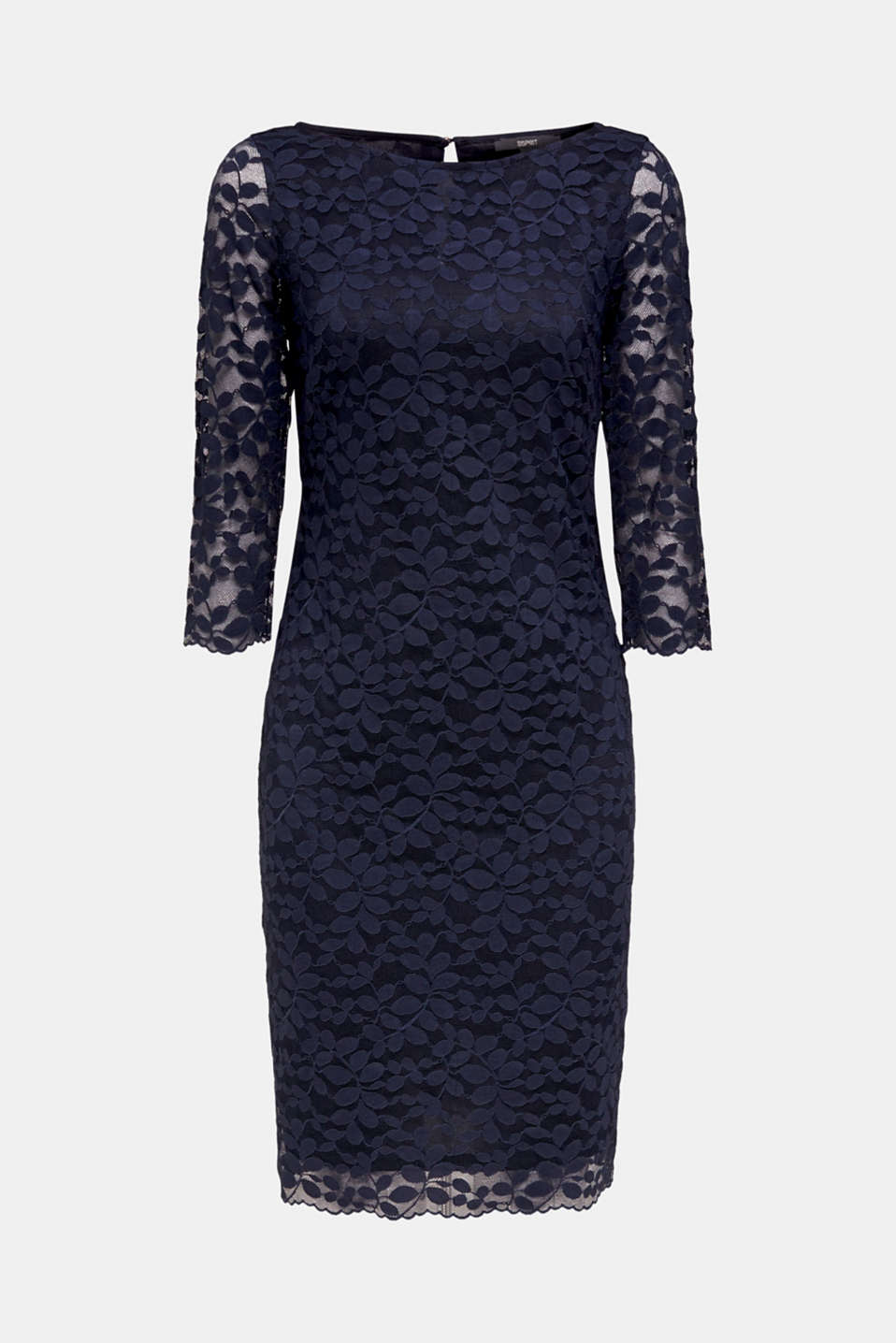 Floral lace dress with stretch, NAVY, detail image number 6