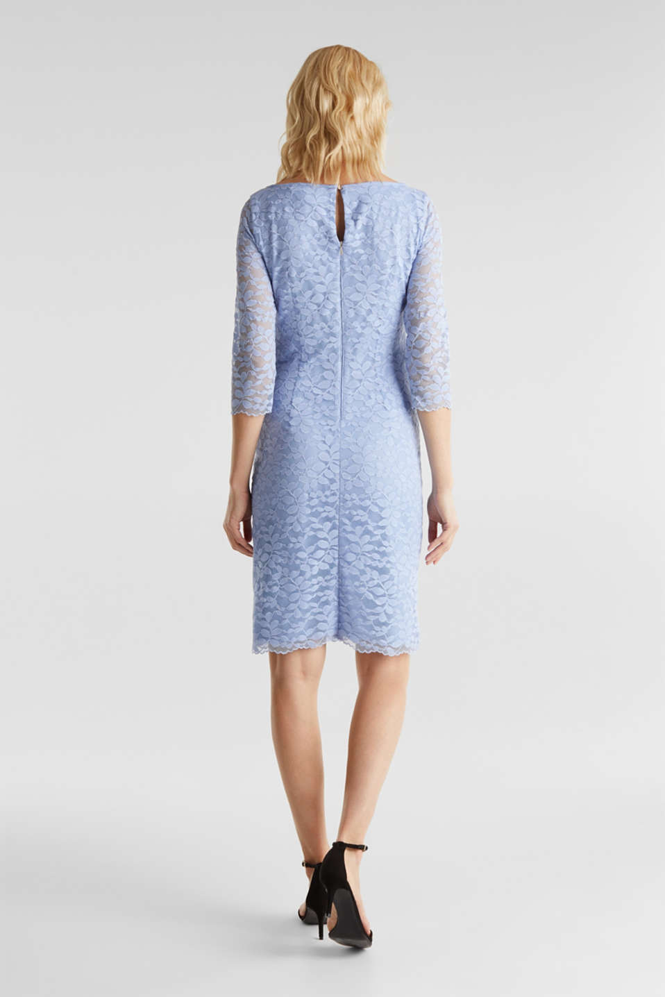 Floral lace dress with stretch, BLUE LAVENDER, detail image number 2