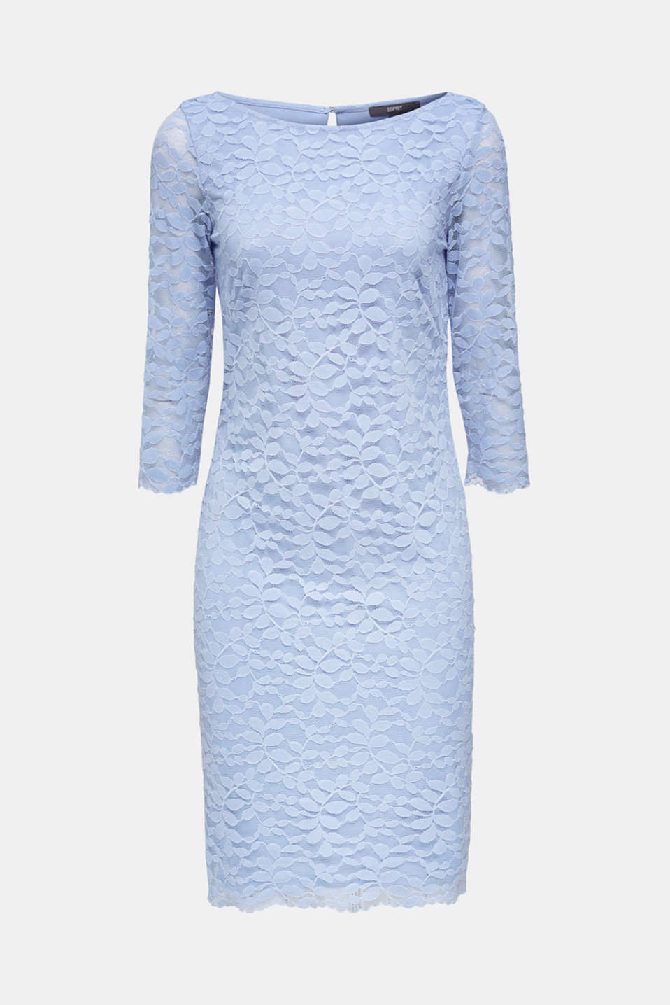 Floral lace dress with stretch, BLUE LAVENDER, detail image number 6