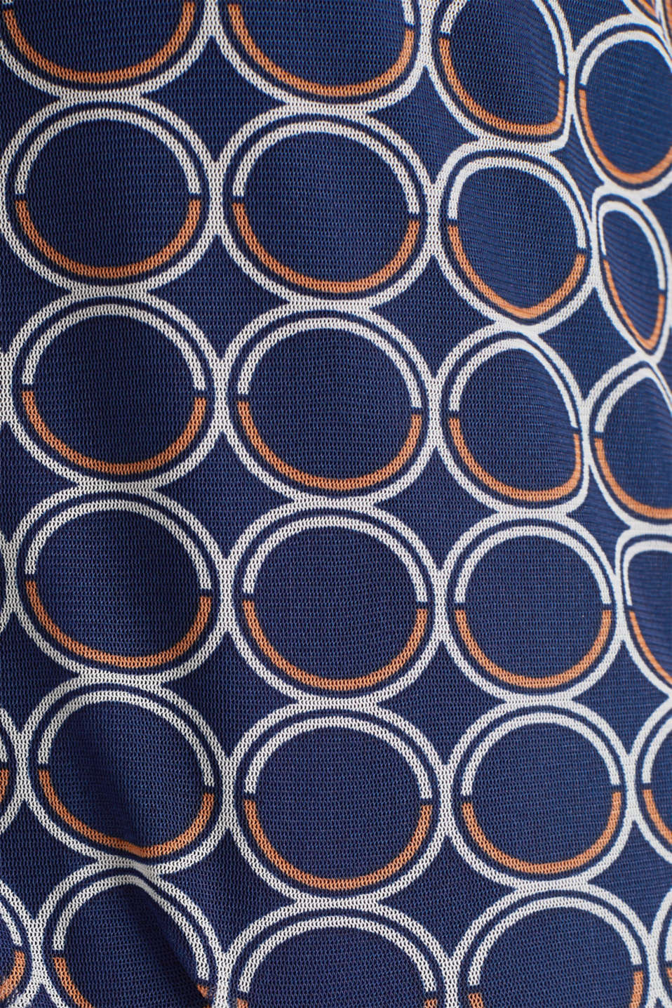 Mesh dress with a print, NAVY 3, detail image number 3