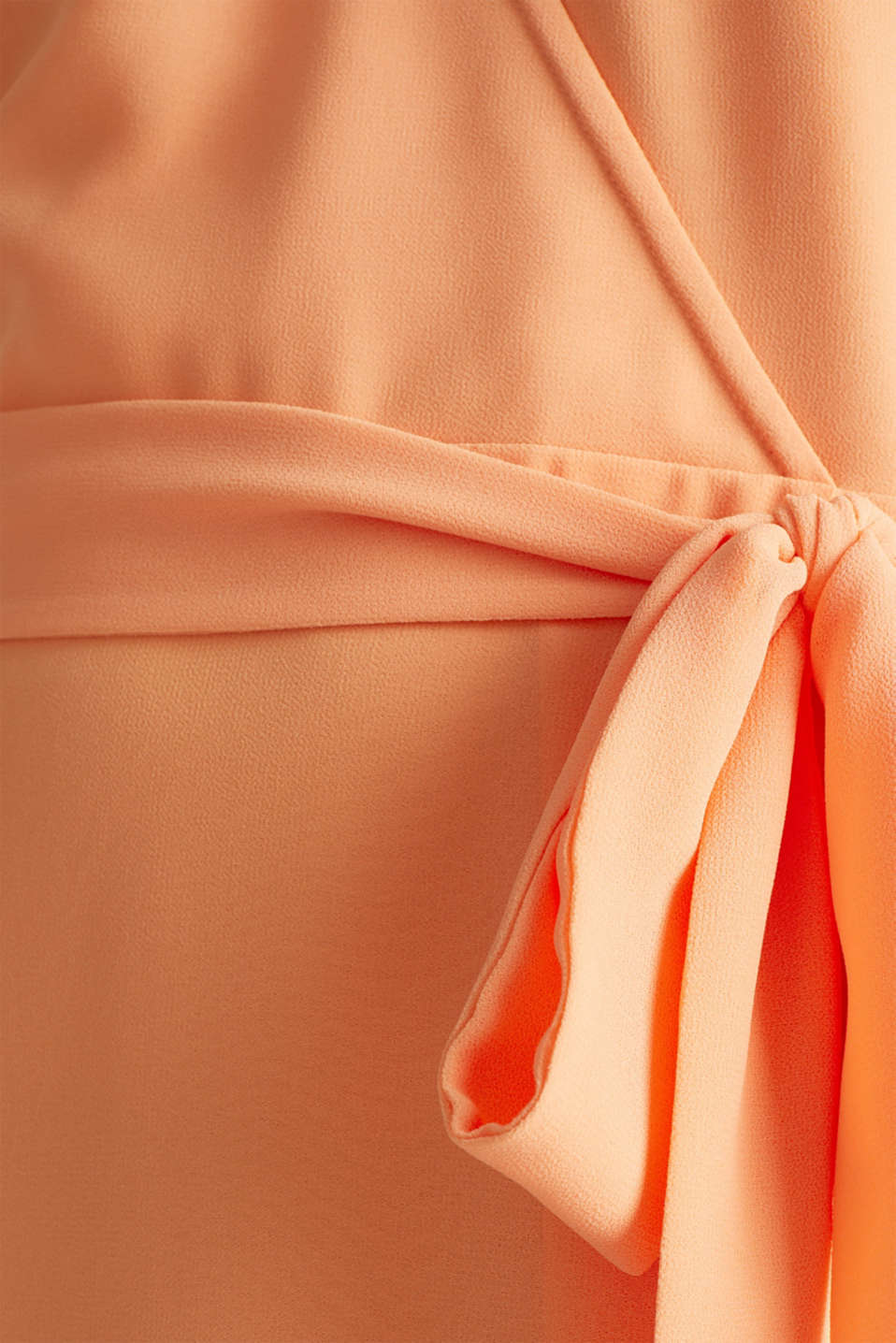 Chiffon dress with a wrap-over effect, ORANGE, detail image number 4