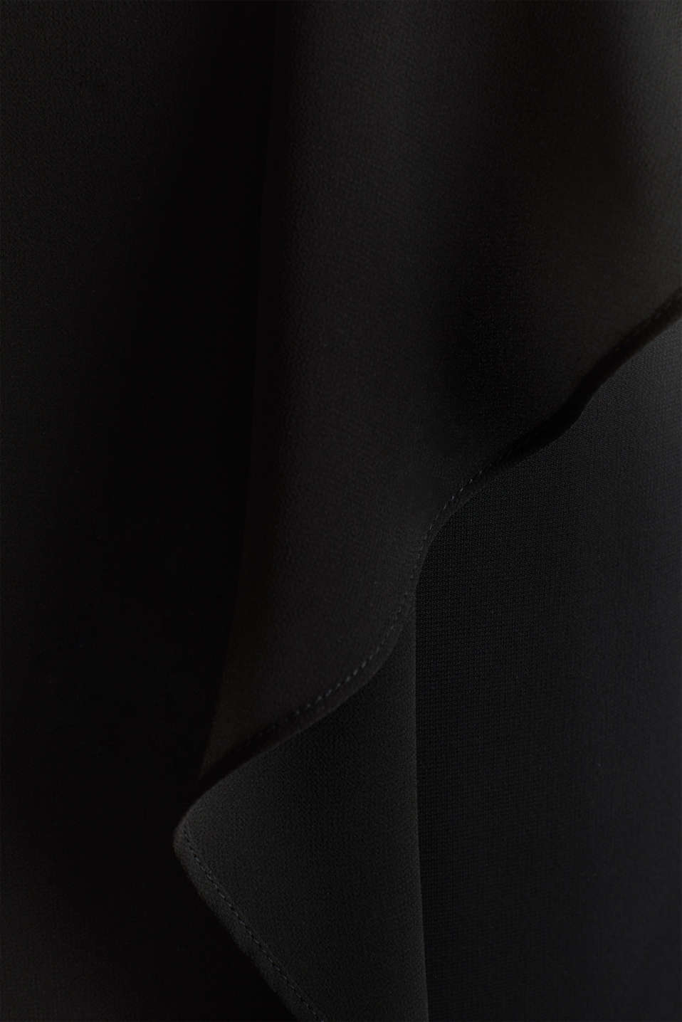 Jersey dress with chiffon layering, BLACK, detail image number 4