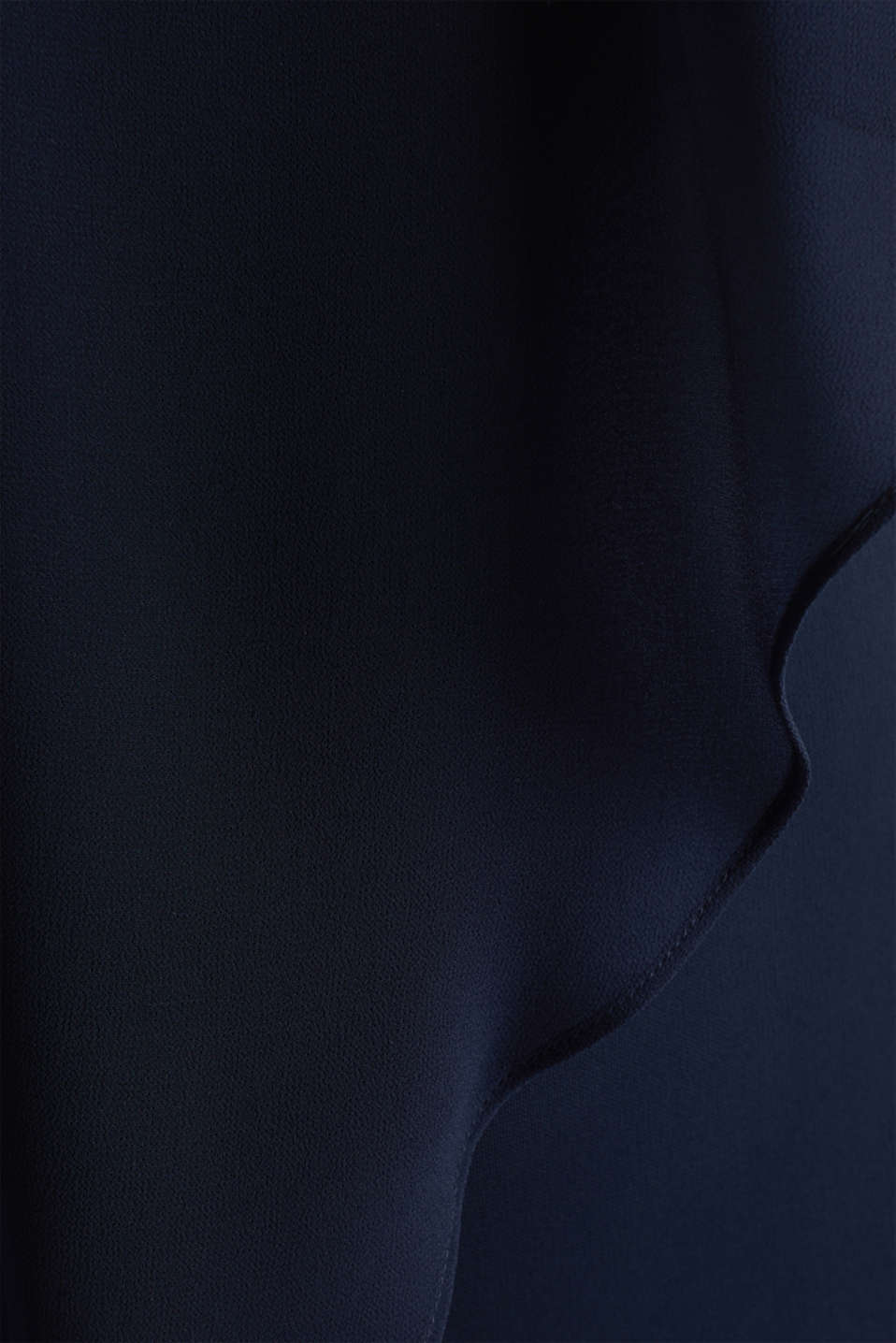 Jersey dress with chiffon layering, NAVY, detail image number 4