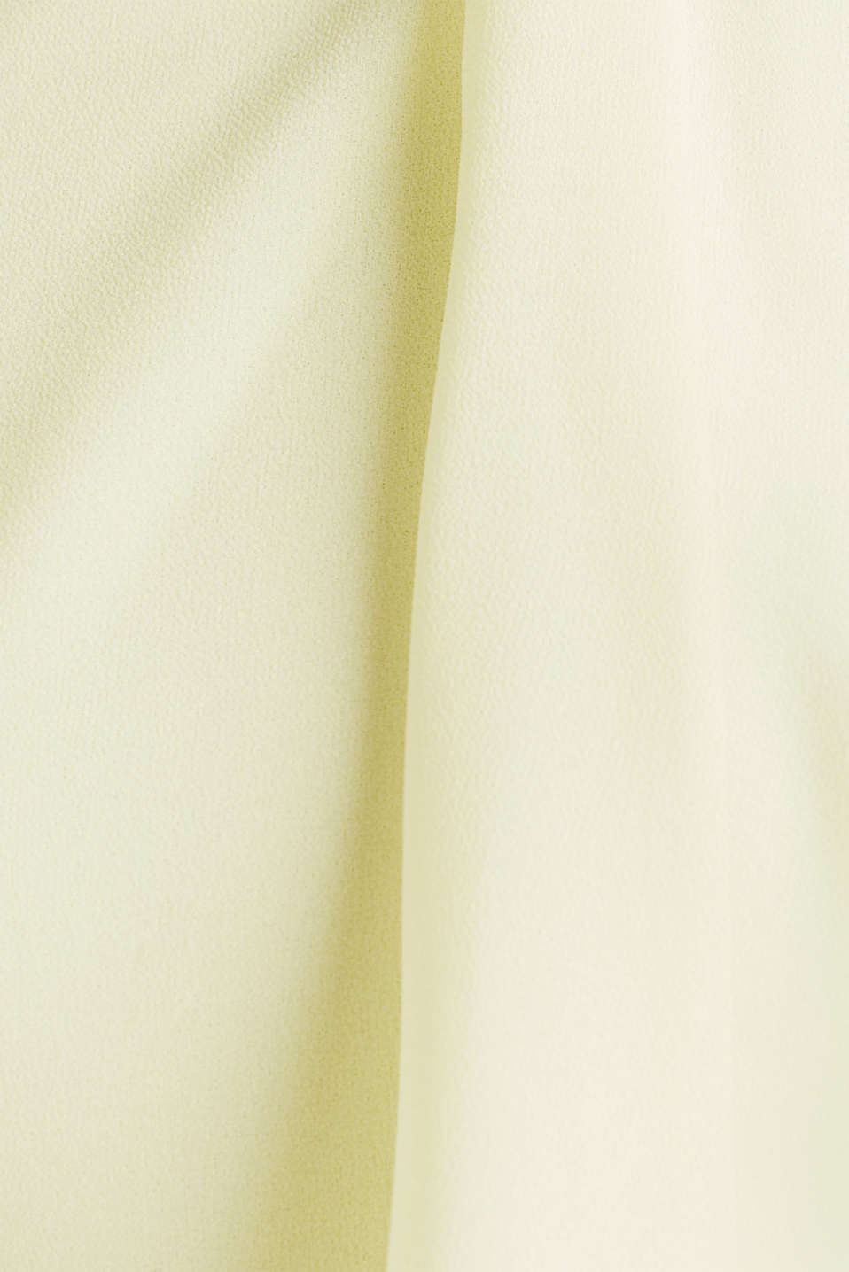 Jersey dress with chiffon layering, LIME YELLOW, detail image number 5