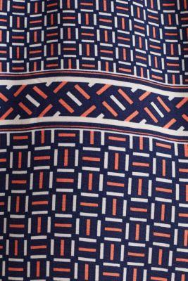 Midi dress with a modern tribal print, NAVY, detail
