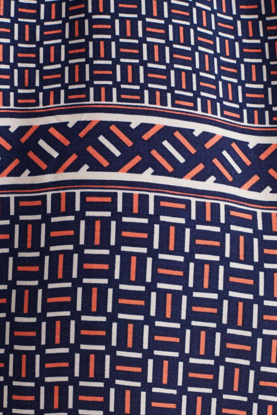 Midi dress with a modern tribal print, NAVY, detail image number 4