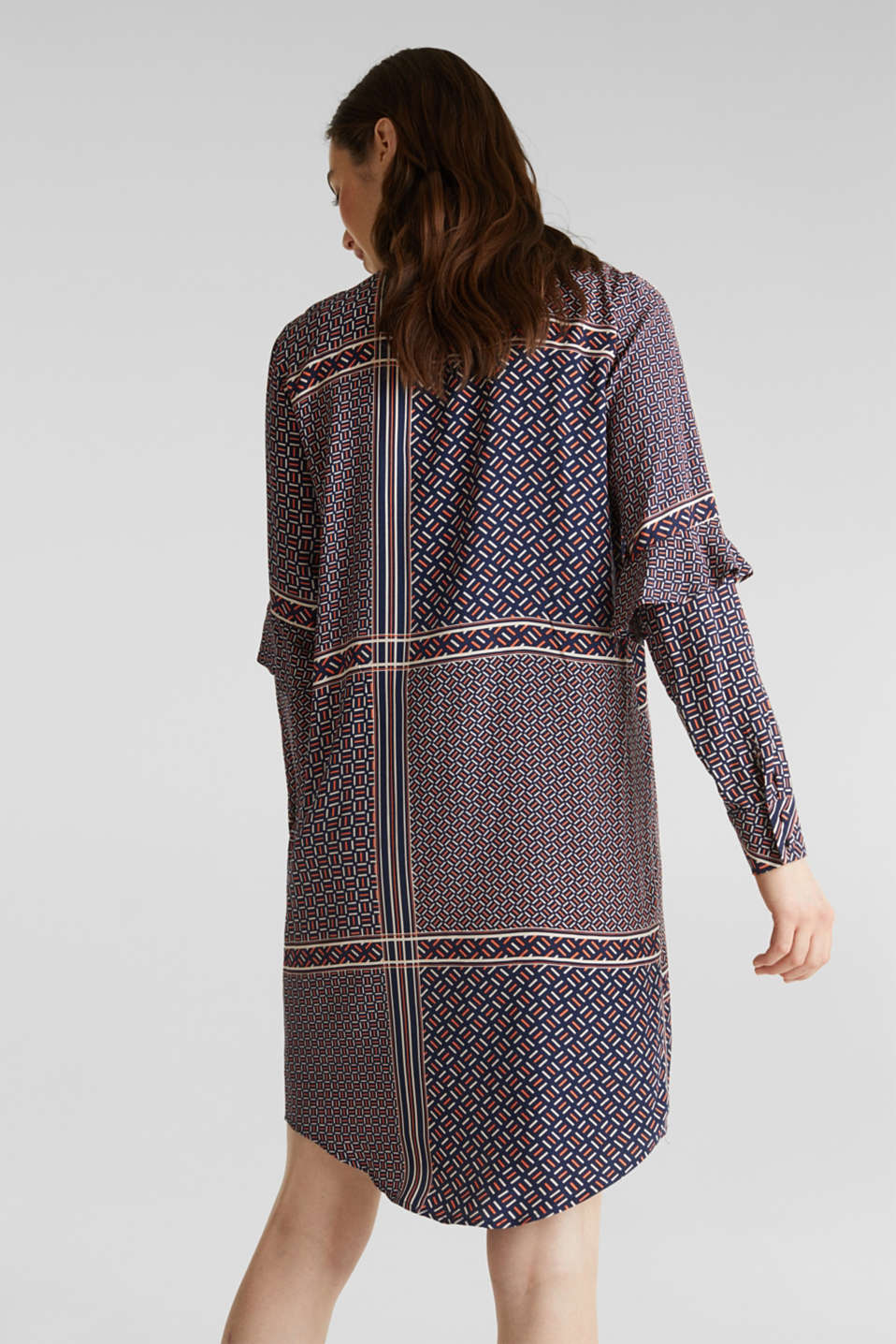 Dress with a modern tribal print, NAVY, detail image number 2