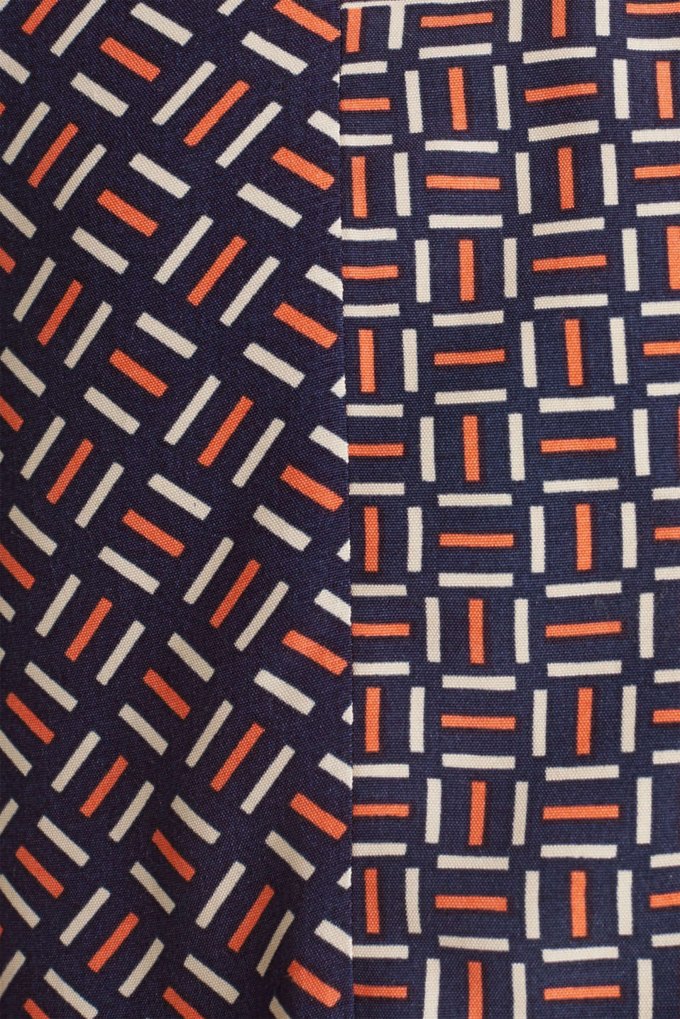 Dress with a modern tribal print, NAVY, detail image number 4