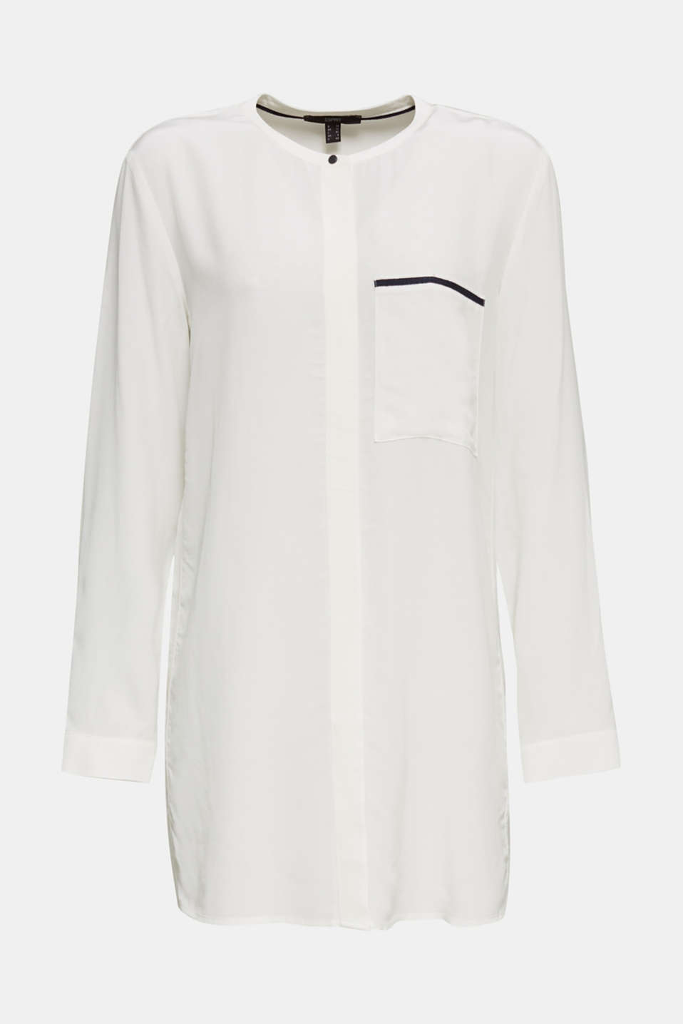 Long blouse with LENZING™ ECOVERO™, OFF WHITE, detail image number 6