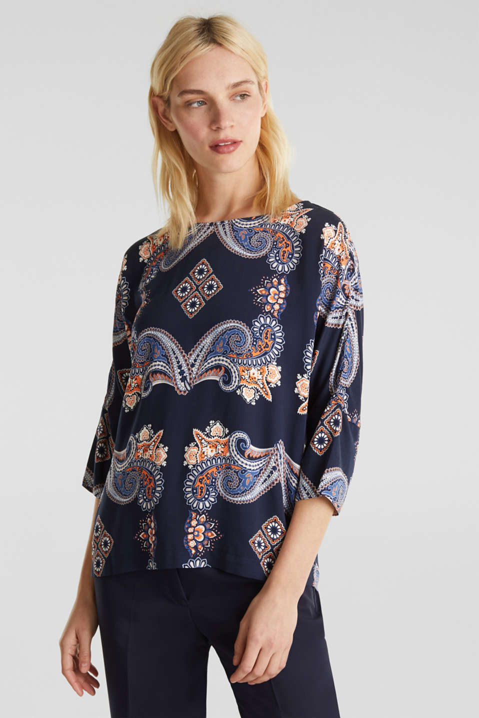 Esprit - Blouse with a paisley print