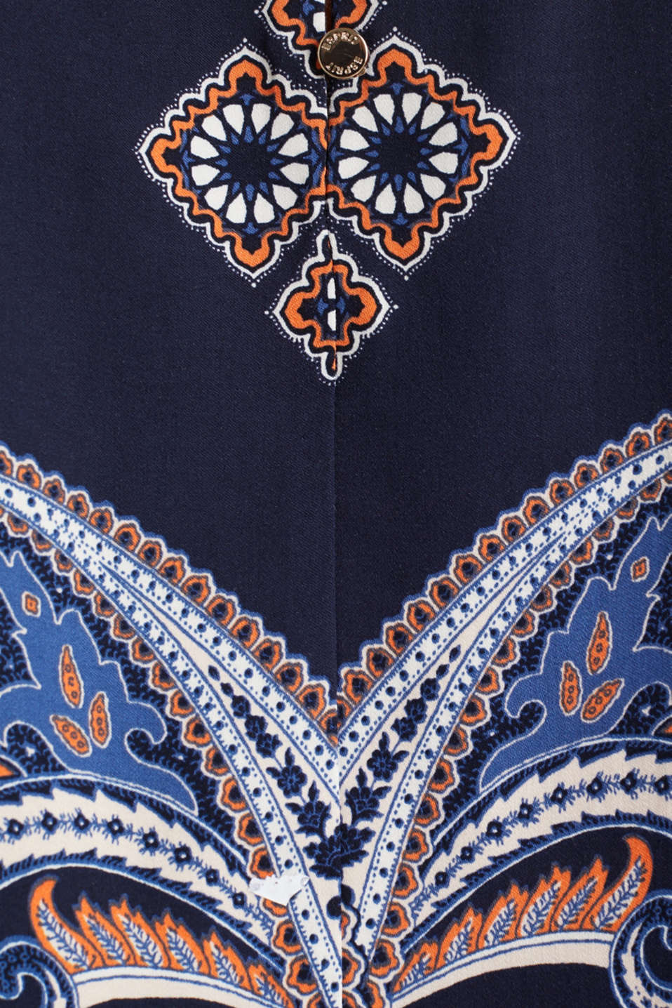 Blouse with a paisley print, NAVY 4, detail image number 4