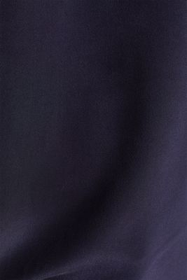 Blouse top with silk, NAVY, detail