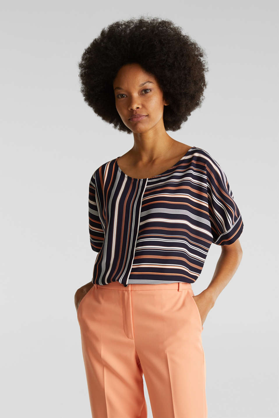 Esprit - Striped blouse, recycled