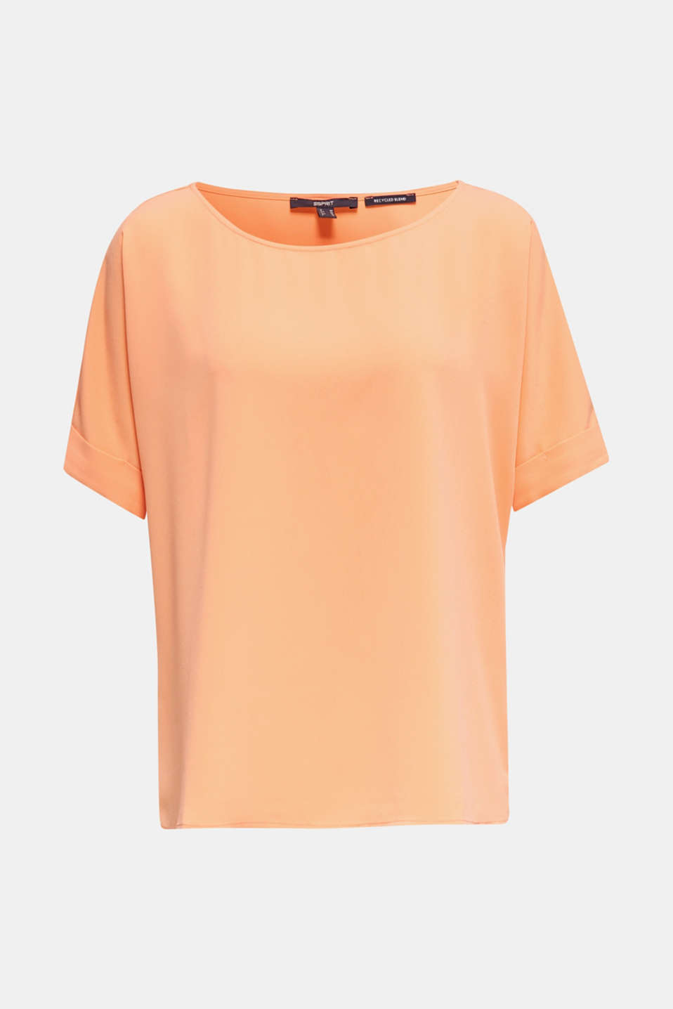 Unembellished blouse top, recycled, ORANGE, detail image number 6