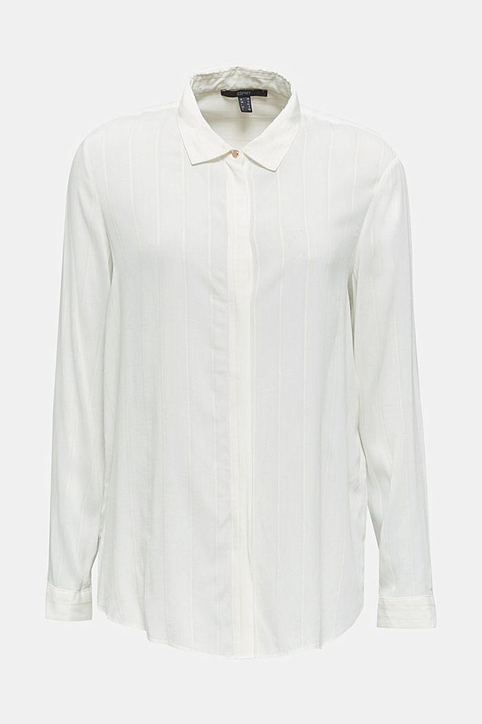 Hemdbluse mit Struktur-Streifen, OFF WHITE, detail image number 6