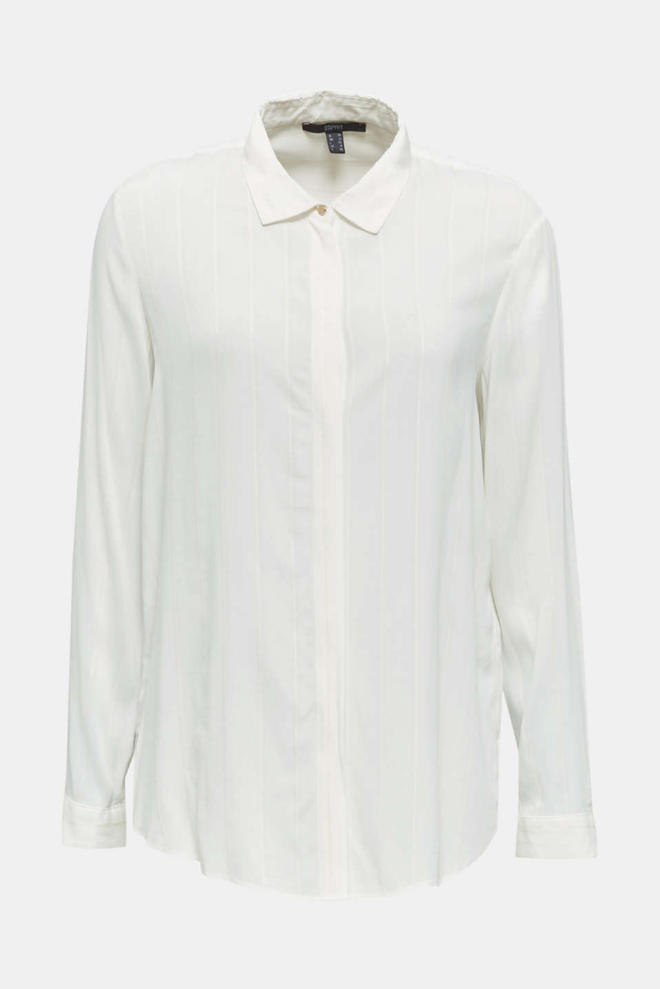Shirt blouse with textured stripes, OFF WHITE, detail image number 6