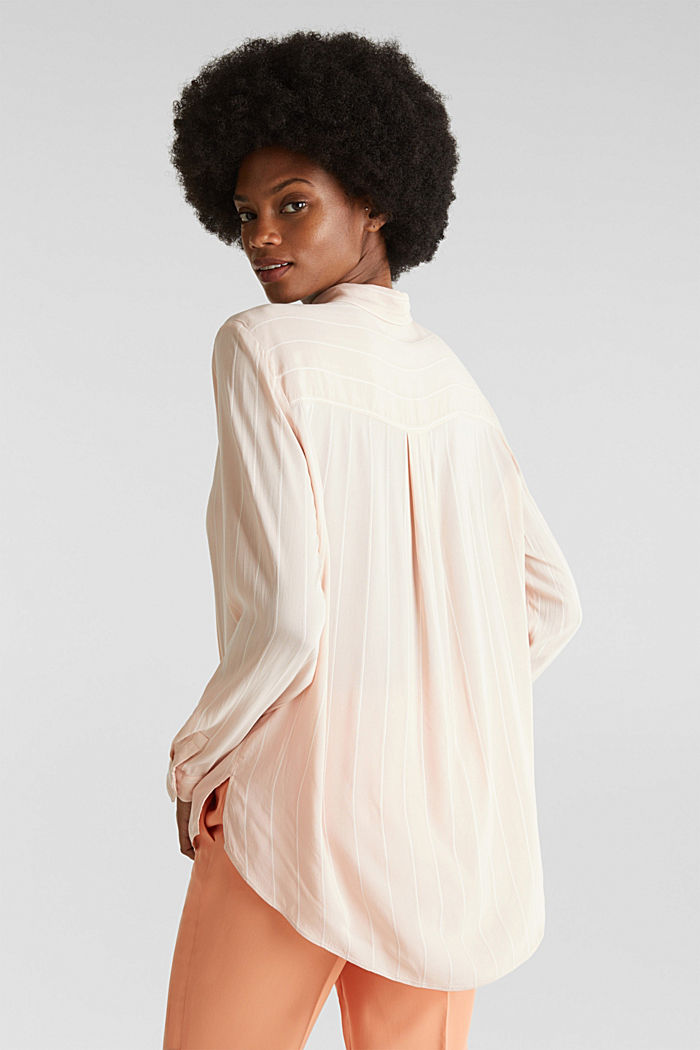 Shirt blouse with textured stripes, PEACH, detail image number 2