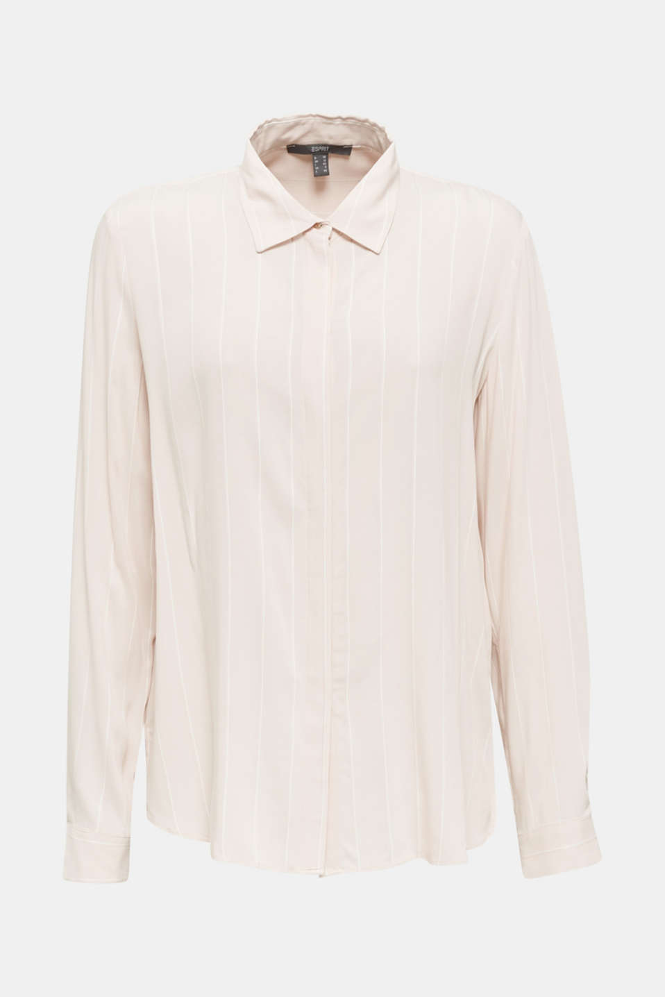 Shirt blouse with textured stripes, PEACH, detail image number 6