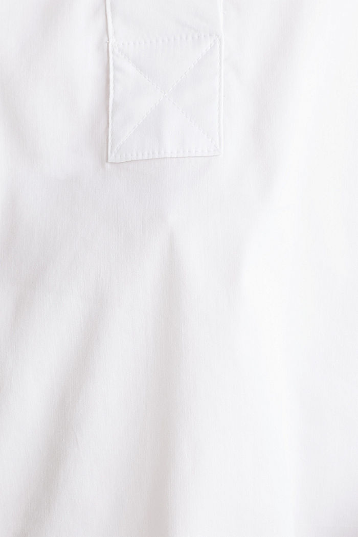 Stretchblouse met een langer achterpand, WHITE, detail image number 4