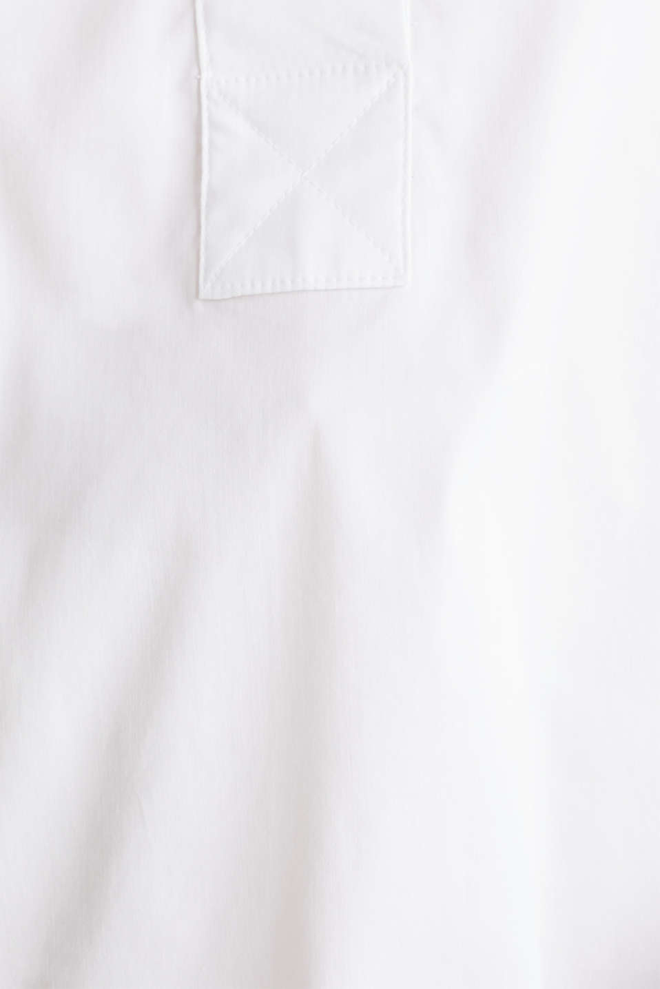 Slip-on stretch blouse with a high-low hem, WHITE, detail image number 4